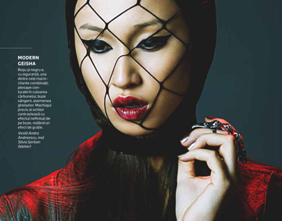Bad girl gone Glam, beauty editorial
