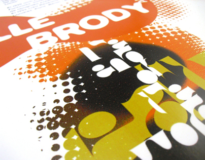 Poster dedicated to typographer Neville Brody.