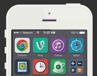Flat iOS 7 Icon Set