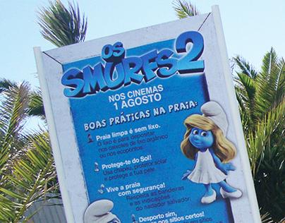 Columbia - Acção de Sensibilização Praias - Os Smurfs 2