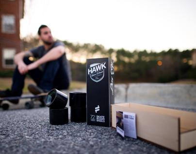 Hawk Skateboard Wheels Package Design