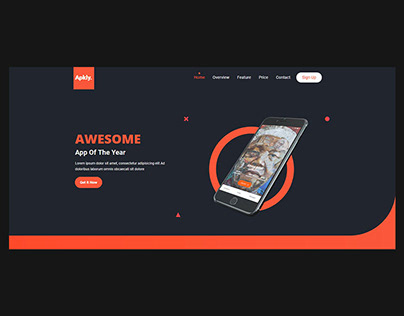 Apkly - App Landing Page Template