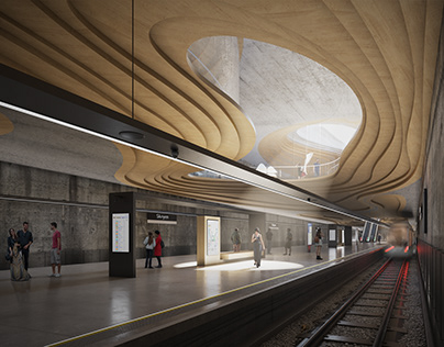 Renderings for Sporaarchitects | Metro Station in Oslo