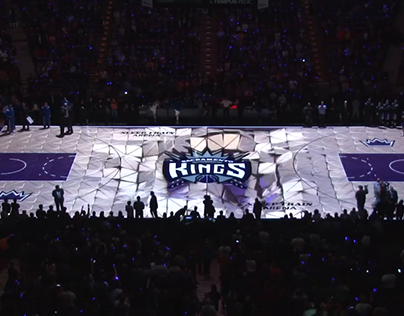 Sacramento Kings 3D Court Projection Mapping