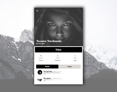 Social media profile concept