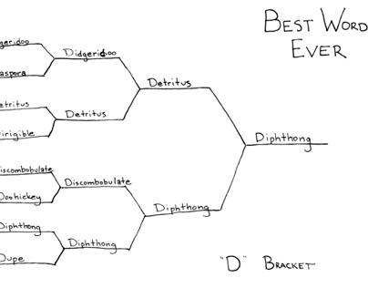 "Best Word Ever: ""D"" Bracket"