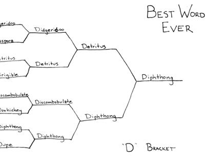 "Best Word Ever: ""E"" Bracket"