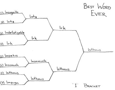 "Best Word Ever: ""I"" Bracket"