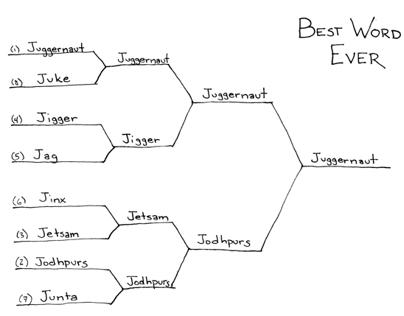 "Best Word Ever: ""J"" Bracket"