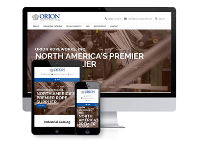 North American Rope Supplier Website Design