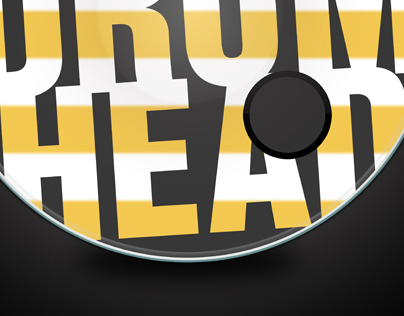 Realistic Bass Drum Head Template