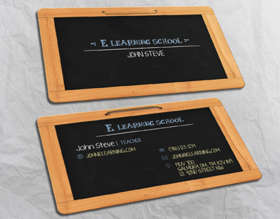 E LEARNING SCHOOL BUSINESS CARD