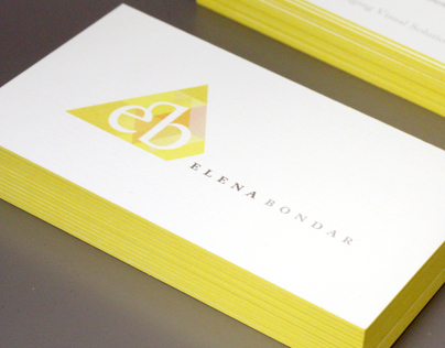 Self Promotion | Identity for Elena Bondar, Designer