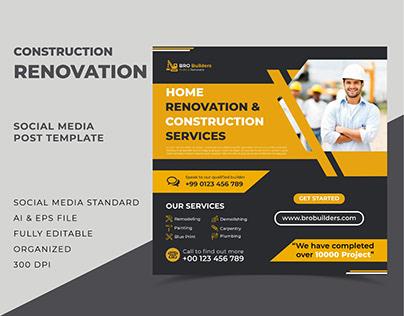 Construction Social Media Post Design