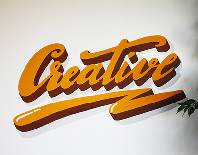 CREATIVE | Hand lettering mural painting