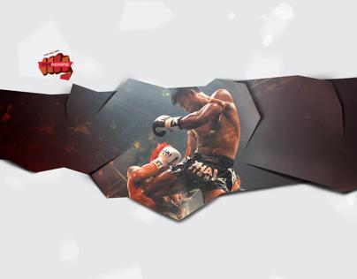 """Muay thai """"Fair Fighting"""" club redesign"""