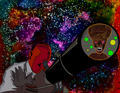 Galaxy and alien