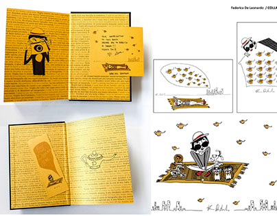 "illustrazioni per il libro ""Dreams from my magic lamp"""