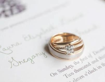 Greg and Laura French // Wedding Invitation