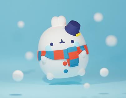 X-mas snow Molang