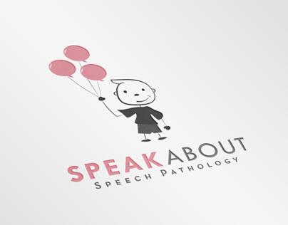 'Speak About' brand mark design