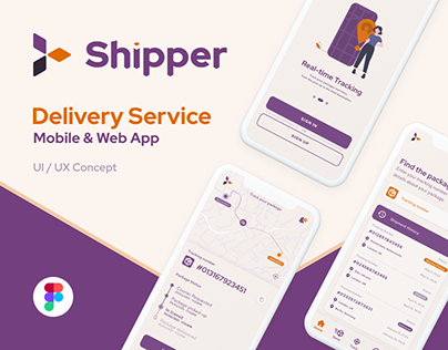 Shipper - UI/UX for Web and Mobile Delivery Service