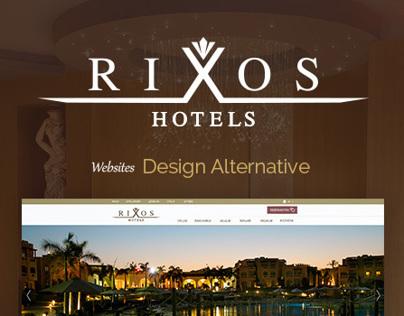 Rixos Hotels Website Design Alternative