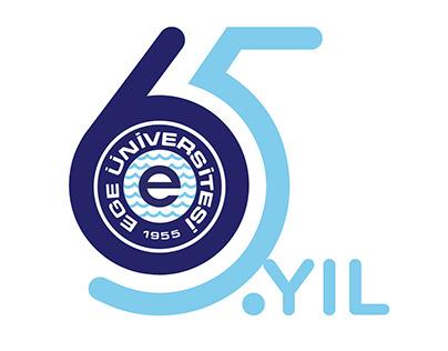 Ege Üniversitesi 65. Yıl Logosu