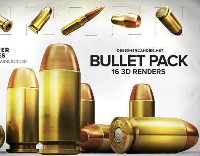 3D PNG Bullet Renders Pack