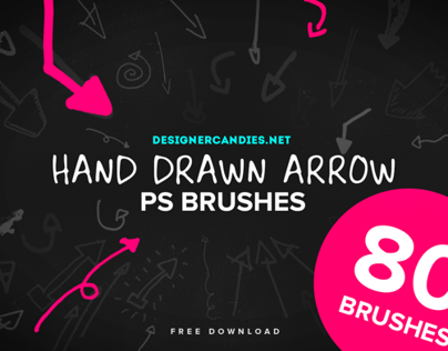 80 Free Hand Drawn Arrow Brushes (for Photoshop)
