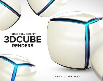 Free Stylish Cube Renders
