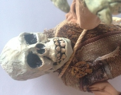 dead celtic warrior puppet