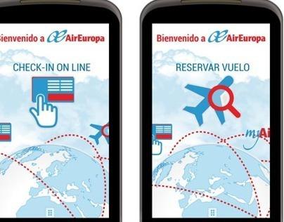 Diseño App para Air Europa
