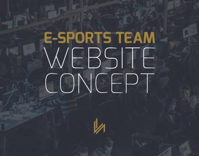 VH Gaming - Website Concept Design