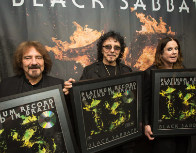 Black Sabbath platinum award