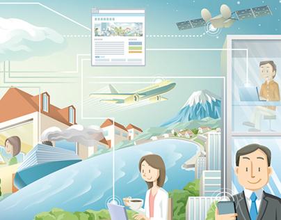 Illustration for web designer's website
