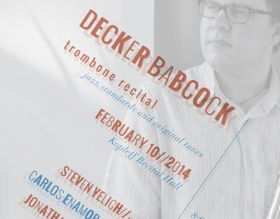 Decker Babcock - Junior Recital Poster