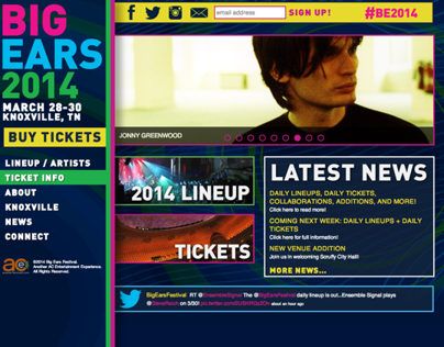 Big Ears Festival 2014 - Website Design
