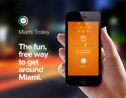 Miami Trolley Mobile App Design