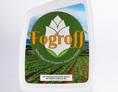 Fogroff Fish Fertilizer Logo and Label Design