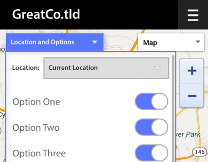 Map Options for Full Screen Google Map