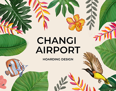 Illustrations for Changi Airport, Singapore