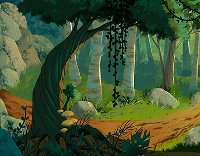 Forest//Background Design🌳