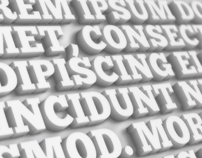 15 3D Text Effects for Photoshop