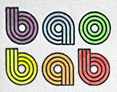 baobab (logo & 5 cartes postales & 500 handmade cards)