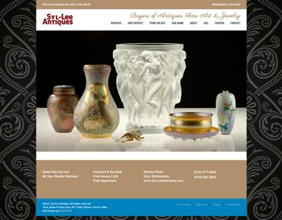 Syl-Lee Antiques (WordPress) Website