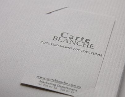 Carte Blanche corporative presentation