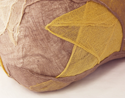 Experimentation with Natural Dyes - Wrapped Puff