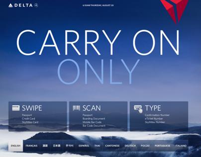 Delta Airlines Kiosk