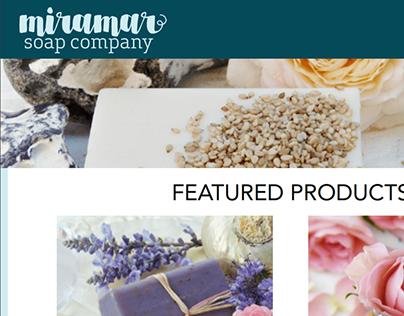Miramar Soap Company Mobile Website